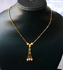 22 k gold plated Choker Chain 14 in Indian necklaces Mangalsutra  h88