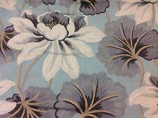Designer's Guild Floral Lotus Blossom Upholstery- Baudard/Aqua 0.75 yd F1683-02
