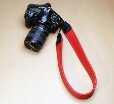 Red PU Leather Vintage DSLR Camera Neck Strap For Nikon D5100 D7000 D80 D3200