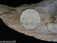 LARGE GENUINE STERLINA MI MILANO CLEAR CRYSTAL COIN/MONEDA 4 KEEPER/PENDANT AJMM