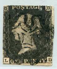 GREAT BRITAIN #1 Average Used Issue - CUT CLOSE MARGIN - QUEEN VICTORIA - S7808