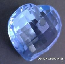 SKY BLUE TOPAZ 12 MM HEART BRIOLETTE FRONT DRILLED   ALL NATURAL  AAA