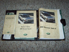 2001 Land Rover Discovery Series II 2 Owner Owner's Manual User Guide 4.0L V8