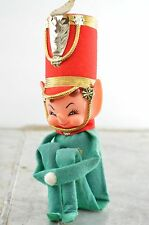 Vintage Marching Band Pixie Elf Green Knee Hugger Christmas Ornament