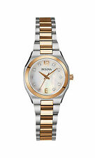 Bulova Women's 98P143 Diamond Gallery Mother of Pearl Dial Two-Tone Watch