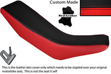 RED & BLACK CUSTOM FITS HONDA CRM 250 R 89-92 DUAL LEATHER SEAT COVER