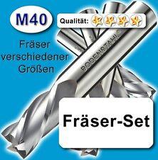 Fräsersatz 3-4-5-6-8-10-12mm für Edelstahl Alu Messing Holz M40 wie HSS-E Z=4