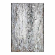 "Oversize 72"" Black White Gray Abstract Wall Art 