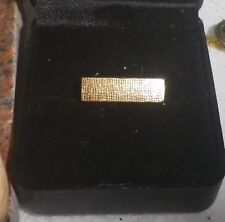 Textured Vintage Gold 1960s Brooch -NZ Deceased Estate