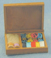 Box of Sewing Items, Dolls House Miniature Sewing Room 1/12 Scale