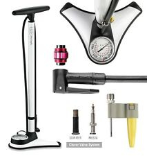 GIYO High Pressure Bicycle Bike Floor Pump W/TOP-Mounted Gauge 180 PSI