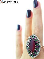 Turkish Traditional Jewelry 925 Silver Handmade Ruby Sultan Ring Size 8 R2637