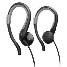 PHILIPS SHS4800/10 BLACK/GREY ADJUSTABLE EARHOOK ACTIVE SPORTS HEADPHONES NEW