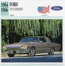 1964-1966 FORD THUNDERBIRD Classic Car Photograph / Information Maxi Card