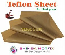 3 Pack  Thick Teflon Sheet for Heat Press 15X15   5 mil (0.005 inch)