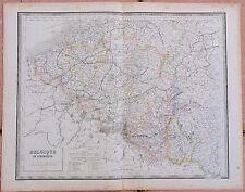 1855, Carte : BELGIQUE & LUXEMBOURG - 53 x 67 cm.- Andriveau Goujon