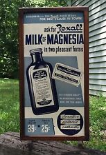 RARE Vintage REXALL Drug Store Milk Of Magnesia Sidewalk Advertising Sign