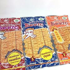 100 PACKS x 6 G BENTO SQUID THAI SEAFOOD SNACK CHILL ROAST SWEET SPICY FLAVOR