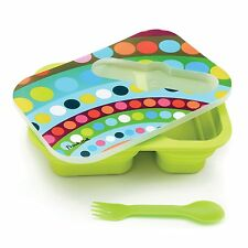 French Bull Bindi Collapsible Pop-up Kids Silicone Lunch Box Kit Container