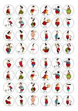 48 MINI LITTLE OLD PEOPLE CUPCAKE TOPPERS ICED ICING FAIRY CAKE BUN TOPPERS