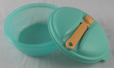 Tupperware Snack Salat & Go 600 ml mit Gabel Mint Grün Orange Neu OVP
