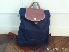 Longchamp purple zipped backpack, 'Pliages' collection, VGC