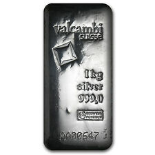1 kilo Silver Bar - Valcambi (Poured, w/Assay) - SKU #86730