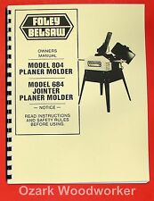 FOLEY BELSAW 804 & 684 Planer Molder Jointer Instructions Parts Manual 0965