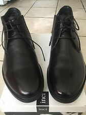 Men's New INCI Leather Winter Shoes Real Fur/ Shearling Lined sz.45