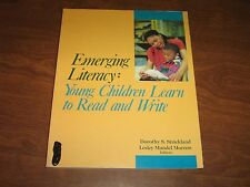 Emerging Literacy :Young Children Learn to Read and Write (1991, Paperback)