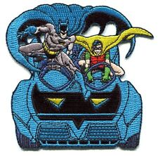 BATMAN & ROBIN batmobile EMBROIDERED IRON-ON PATCH **Free Shipping** dc comics