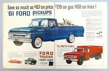 Original 1961 Ford Styleside Pickup Featured Ad plus F-600 and Falcon PU Trucks