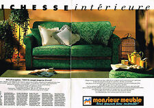 PUBLICITE ADVERTISING 104  1994   MONSIEUR MEUBLE   salon RHODES (2p)
