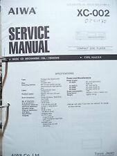 Service Manual Aiwa XC-002 CD-Player ,ORIGINAL
