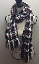 Reitmans Chunky Cable Knitted Tribal Print Women Scarf Winter Tassel Crochet