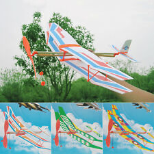 DIY  Rubber Band Elastic Powered Glider Flying Plane Airplane Kids Toy Gift