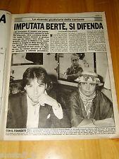 GENTE=1983/39=LOREDANA BERTE CLIPPING RITAGLIO ARTICOLO=