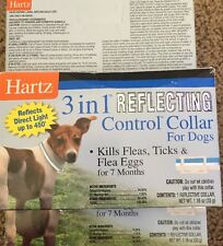 Lot of (3) Hartz 3 in 1 Reflecting Control Collar For Dogs