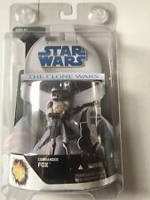 Star Wars From The Clone Wars Of COMMANDER FOX VERY RARE Action Figure  3.75""
