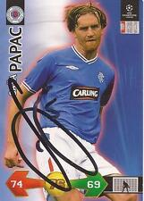 RANGERS SASA PAPAC SIGNED CHAMPIONS LEAGUE SUPER STRIKES CARD+COA *SALE*
