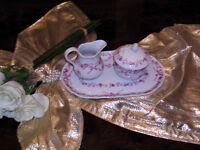 edles Tablett mit Milch und Zucker 3 Teile von Hutschenreuther Burgund top