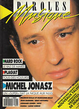 PAROLES ET MUSIQUE 4 MICHEL JONASZ / GUIDONI MITCHELL COHEN INXS CHEDID