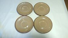 Denby Energy Cinnamon Set of 4 SAUCERS ONLY - NO CUPS