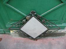 Miroir Losangique Art Déco en Fer Forgé Fleur Miroir Biseauté