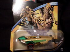 2015 HOT WHEELS DC UNIVERSE HAWKMAN  HW HOTWHEELS GREEN AND GOLD