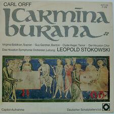 """CARL ORFF CARMINA BURANA BABIKIAN GARDNER HAGER LEOPOLD STOKOWSKI 12"""" LP (d218)"""
