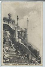 CARTOLINA 1921 VARESE FUNICOLARE SUL MONTE CAMPO DEI FIORI 923/A