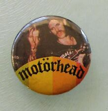 MOTORHEAD LEMMY FAST EDDIE VINTAGE 30mm METAL BUTTON BADGE FROM THE 1970's/80'S