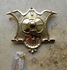 Geschenknet Antik Messing Klingel 1 Klingelschild Klingelplatte  K37P