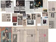 BILLY JOEL : CUTTINGS COLLECTION -adverts interviews etc-